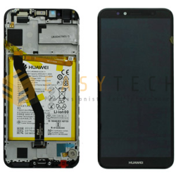LCD DISPLAY PER HUAWEI Y6 2018 NERO ATU-L11 L21 (ORIGINALE)