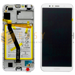 LCD DISPLAY PER HUAWEI Y6 2018 BIANCO ATU-L11 L21 (ORIGINALE)