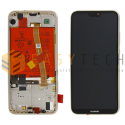 LCD DISPLAY PER HUAWEI P20 LITE ORO + BATTERIA (ORIGINALE)