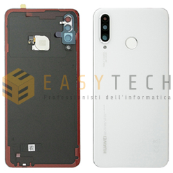BACK COVER PER HUAWEI P30 LITE BIANCO (ORIGINALE)