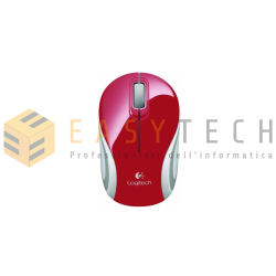 MOUSE LOGITECH M187 MINI WIRELESS RED ROSSO