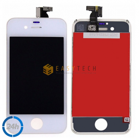 LCD DISPLAY PER IPHONE 4S BIANCO + FRAME (COMPATIBILE)