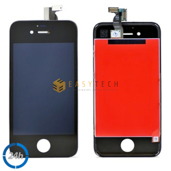 LCD DISPLAY PER IPHONE 4S NERO + FRAME (COMPATIBILE)
