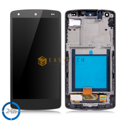 LCD SCHERMO PER LG GOOGLE NEXUS 5 D820 D821 Display Touch Digitizer + FRAME NERO