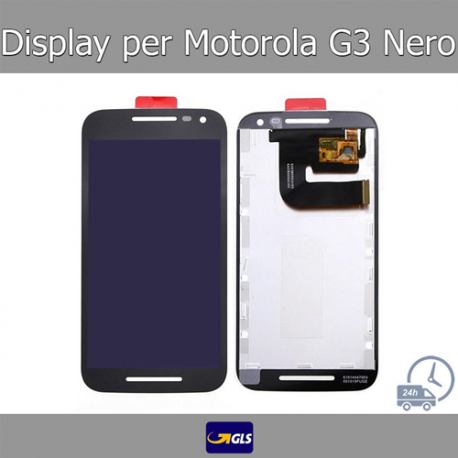 TOUCH SCREEN VETRO + LCD DISPLAY Motorola Moto G3 XT1541 XT1540 XT1550 Nero GLS