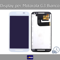 TOUCH SCREEN VETRO + LCD DISPLAY Motorola Moto G3 XT1541 XT1540 XT1550 Bianco