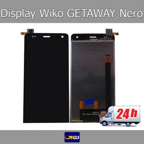 TOUCH SCREEN + LCD DISPLAY ASSEMBLATI WIKO GETAWAY NERO - SPEDIZIONE GLS 24H