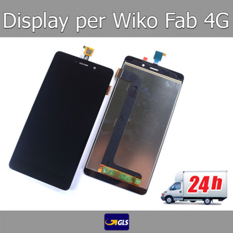 TOUCH SCREEN VETRO + LCD DISPLAY ASSEMBLATI Per Wiko Pulp Fab 4G 5,5 Nero 24H!!
