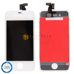 LCD DISPLAY PER IPHONE 4 BIANCO + FRAME (COMPATIBILE)
