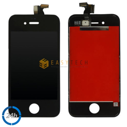 LCD DISPLAY PER IPHONE 4 NERO + FRAME (COMPATIBILE)