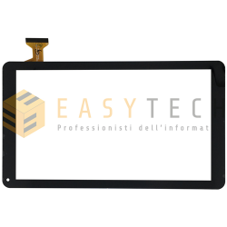 TOUCH SCREEN per MAJESTIC TAB 610 TAB-610 4G VETRO DIGITIZER NERO 10,1
