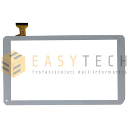 TOUCH SCREEN per MAJESTIC TAB 610 TAB-610 4G VETRO DIGITIZER BIANCO 10,1