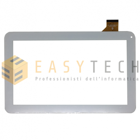 TOUCH SCREEN per Majestic TAB 411 3G VETRO Tablet Digitizer 10,1 BIANCO