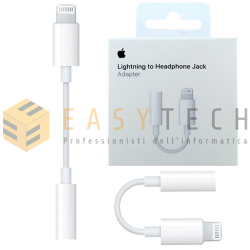 Adattatore lightning jack cuffie 3,5 mm originale Apple per iPhone 7 4.7 Plus 5.5