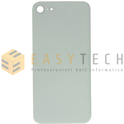 BACK COVER SCOCCA POSTERIORE IPHONE 8 SILVER BIANCO (COMPATIBILE)