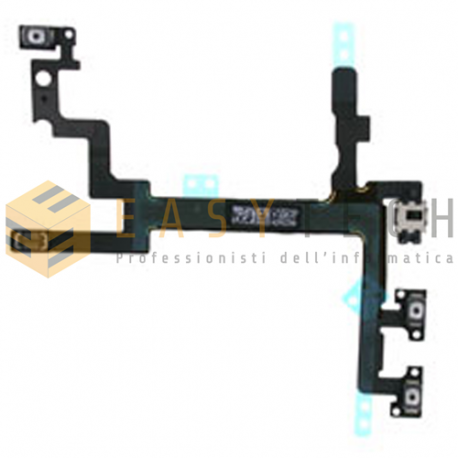IPHONE 5 TASTI TASTO VOLUME MUTO MUTE SILENZIOSO FLAT FLEX PER APPLE IPHONE 5