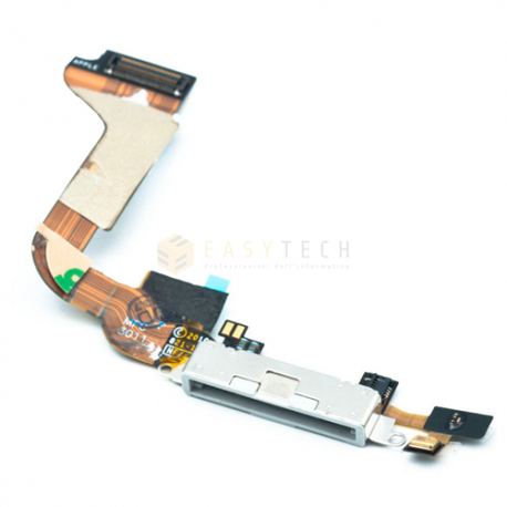 DOCK CONNETTORE DI RICARICA PER IPHONE 4S BIANCO (COMPATIBILE)