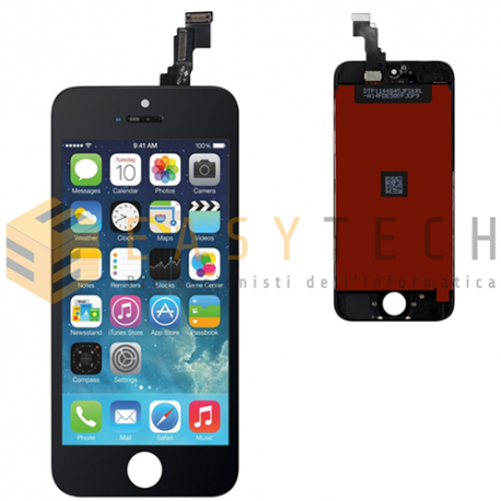 LCD DISPLAY PER IPHONE 5C NERO + FRAME (COMPATIBILE)