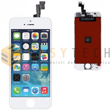 LCD DISPLAY PER IPHONE 5S BIANCO + FRAME (COMPATIBILE)