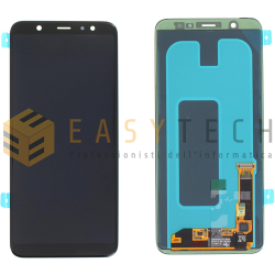 LCD DISPLAY PER SAMSUNG GALAXY A605 A6 2018 NERO (ORIGINALE)