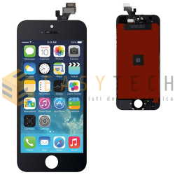 LCD DISPLAY PER IPHONE 5 NERO + FRAME (COMPATIBILE)