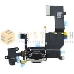 DOCK CONNETTORE DI RICARICA PER IPHONE 5C NERO (COMPATIBILE)