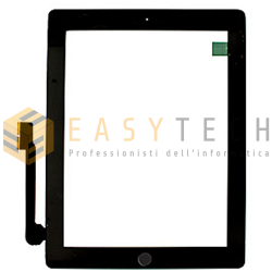 TOUCH SCREEN PER IPAD 3 A1430 A1416 A1403 WiFi 3G NERO (COMPATIBILE)