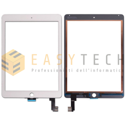 TOUCH SCREEN PER IPAD 6 AIR 2 A1566 A1567 WiFi 3G BIANCO (COMPATIBILE)