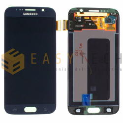 LCD DISPLAY PER SAMSUNG GALAXY S6 G920 NERO/BLUE (ORIGINALE)