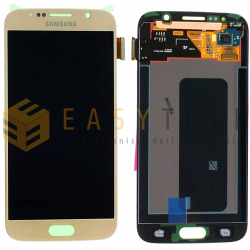 LCD DISPLAY PER SAMSUNG GALAXY S6 G920 ORO/GOLD (ORIGINALE)