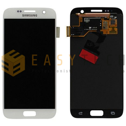 LCD DISPLAY PER SAMSUNG GALAXY S7 SM-G930F BIANCO (ORIGINALE)