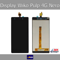 TOUCH SCREEN VETRO + LCD DISPLAY ASSEMBLATI Wiko Pulp 4G 5,0 Nero - GLS 24H