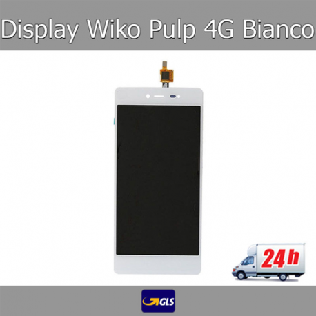 TOUCH SCREEN VETRO + LCD DISPLAY ASSEMBLATI Wiko Pulp 4G 5,0  Bianco - GLS 24H