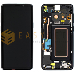 DISPLAY LCD PER SAMSUNG GALAXY S9 G960F NERO (ORIGINALE)