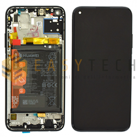 DISPLAY LCD PER HUAWEI P40 LITE NERO (ORIGINALE)