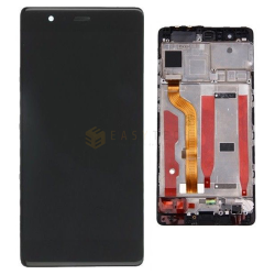 DISPLAY PER HUAWEI P9 NERO EVA-L09 CON FRAME COMPATIBILE