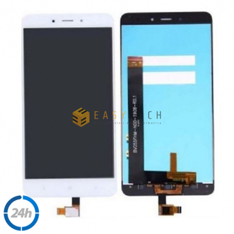 TOUCH SCREEN VETRO + LCD DISPLAY XIAOMI REDMI NOTE 4 MTK SENZA FRAME BIANCO
