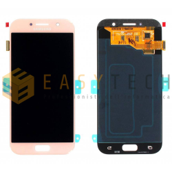 LCD DISPLAY PER SAMSUNG GALAXY A5 2017 A520F ROSA (ORIGINALE)