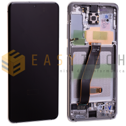 DISPLAY LCD PER SAMSUNG GALAXY S20 G980 G981 BIANCO (ORIGINALE)