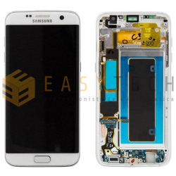 LCD DISPLAY PER SAMSUNG GALAXY S7 EDGE SM-G935F SILVER (ORIGINALE)